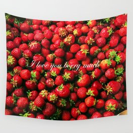 Love you berry much Wall Tapestry