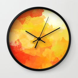 Colorful Abstract - red orange pattern Wall Clock