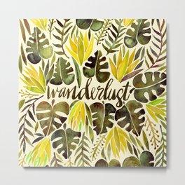 Tropical Wanderlust – Yellow & Olive Palette Metal Print