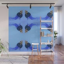 El pensador es impulsado por un vortex. Wall Mural