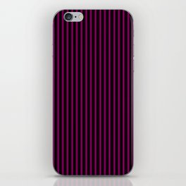 Black and Neon Pink Mattress Ticking Bed Stripes iPhone Skin