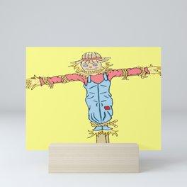 Happy Scarecrow Mini Art Print