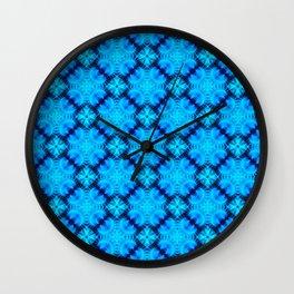 Blue Fans of Japan Wall Clock