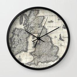 Map of the British Isles - 1631 Wall Clock
