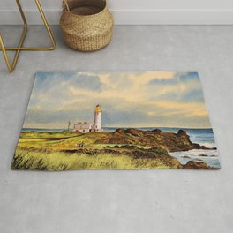 Turnberry Golf Course Scotland 9th Tee Rug