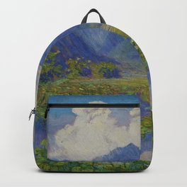 A Shower in the Mountains & Lily Pads, Manoa Valley, Hawaii landscape by Anna Woodward Backpack