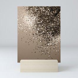 Sparkling Sepia Lady Glitter #1 #shiny #decor #art #society6 Mini Art Print