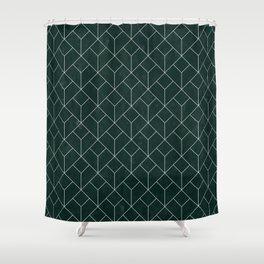 Green Art Deco Shower Curtain