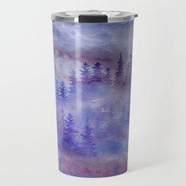 Misty Pine Forest Travel Mug