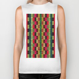 Colorful Geometric Shapes and Lines (Pattern Occurring) #04 Biker Tank