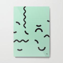 OY! green Funfetti Metal Print