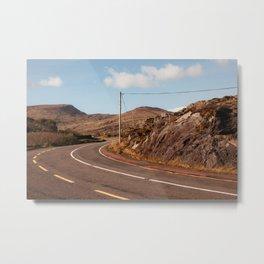 Brown road, Ireland Metal Print