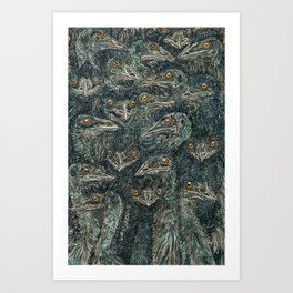 Emus Art Print