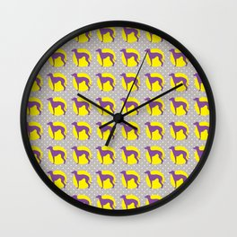Italian Greyhound - Pattern One Wall Clock