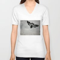 silence of the lambs V-neck T-shirts featuring Silence of the Lambs by Kat Phelps