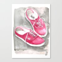 vans Canvas Prints featuring Vans by Having Here