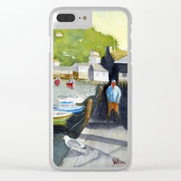 Sunny in Polperro Clear iPhone Case