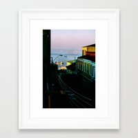 chile Framed Art Prints featuring Valparaiso, Chile. by Volta's Online Store