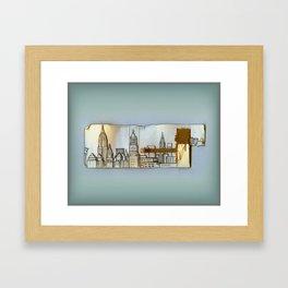 Midtown New York Framed Art Print