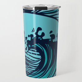 Storming sea Travel Mug
