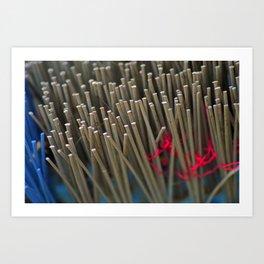 Broom Bristles Art Print