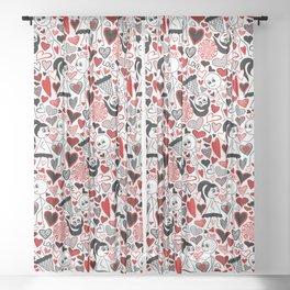 Stick Figures in Love Sheer Curtain