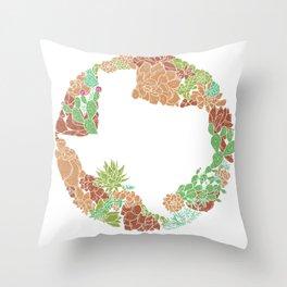 Texas Forever - Earth Throw Pillow