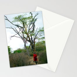 Masai Warrior Stationery Cards