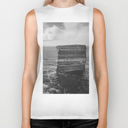 Dun Briste II Black and White Biker Tank