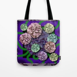 HYDRANGEAS FADING ABSTRACT BOUQUET  Tote Bag