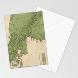 Vintage Map of Louisiana (1816) Stationery Cards