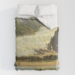 The Davidson Glacier 1888 By Thomas Hill | Reproduction Comforters