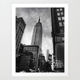 Empire State Building Near Dusk Art Print