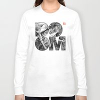 doom Long Sleeve T-shirts featuring DOOM by Jonathan Bruns Fine art