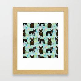 French Bulldog brindle coat easter spring dog costume custom pet portraits Framed Art Print
