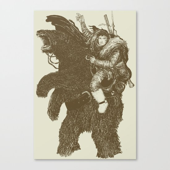 Bearpoleon Canvas Print