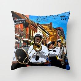 Bourbon St. second line Throw Pillow