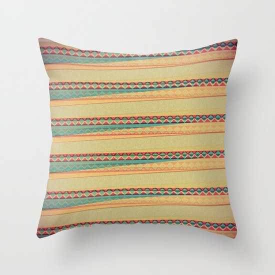 Frequencies Throw Pillow