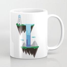 Floating islands with lighthouse Coffee Mug