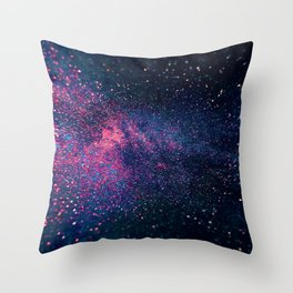 Sparkles Galaxy (Color Boost) Throw Pillow