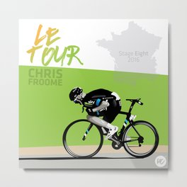 Le Tour + Froome Metal Print
