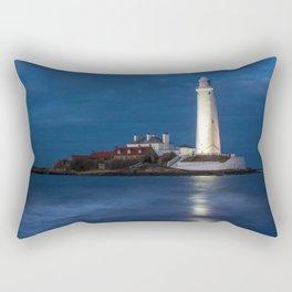 Dusk at St Mary's Lighthouse Rectangular Pillow