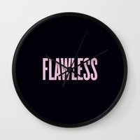 flawless Wall Clocks featuring Flawless by Marianna