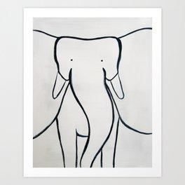 No. 002 - The Elephant (Modern Kids & Nursery Art) Art Print