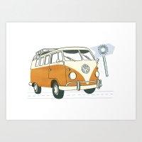 volkswagen Art Prints featuring Volkswagen by Valesca van Waveren