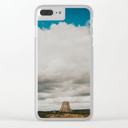 The Devils Tower Clear iPhone Case