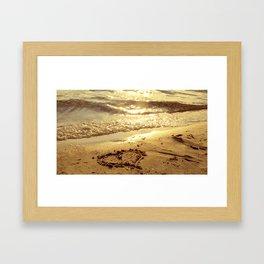 Love sandbeach Framed Art Print