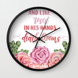 Death Blooms Wall Clock