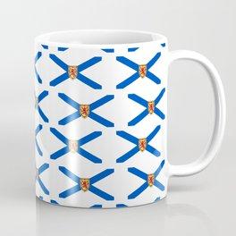 flag of nova scotia- nova scotian,bluenoser,halifax,cape breton,nueva escocia,nouvelle écosse. Coffee Mug