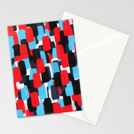 Nautic Color Watercolor Pattern Stationery Cards